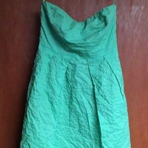 J Crew Strapless Dress- Kelly Green